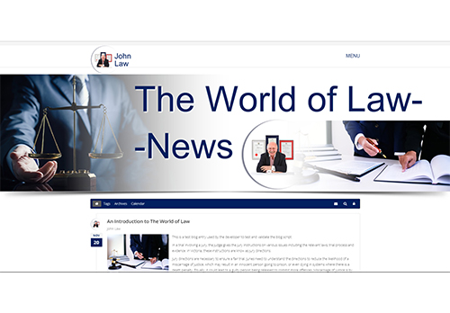 the world of law blog
